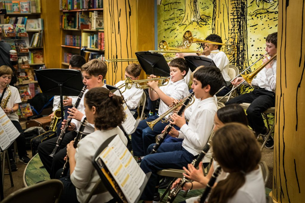 Darnestown Community Band performing a concert at Barnes & Noble